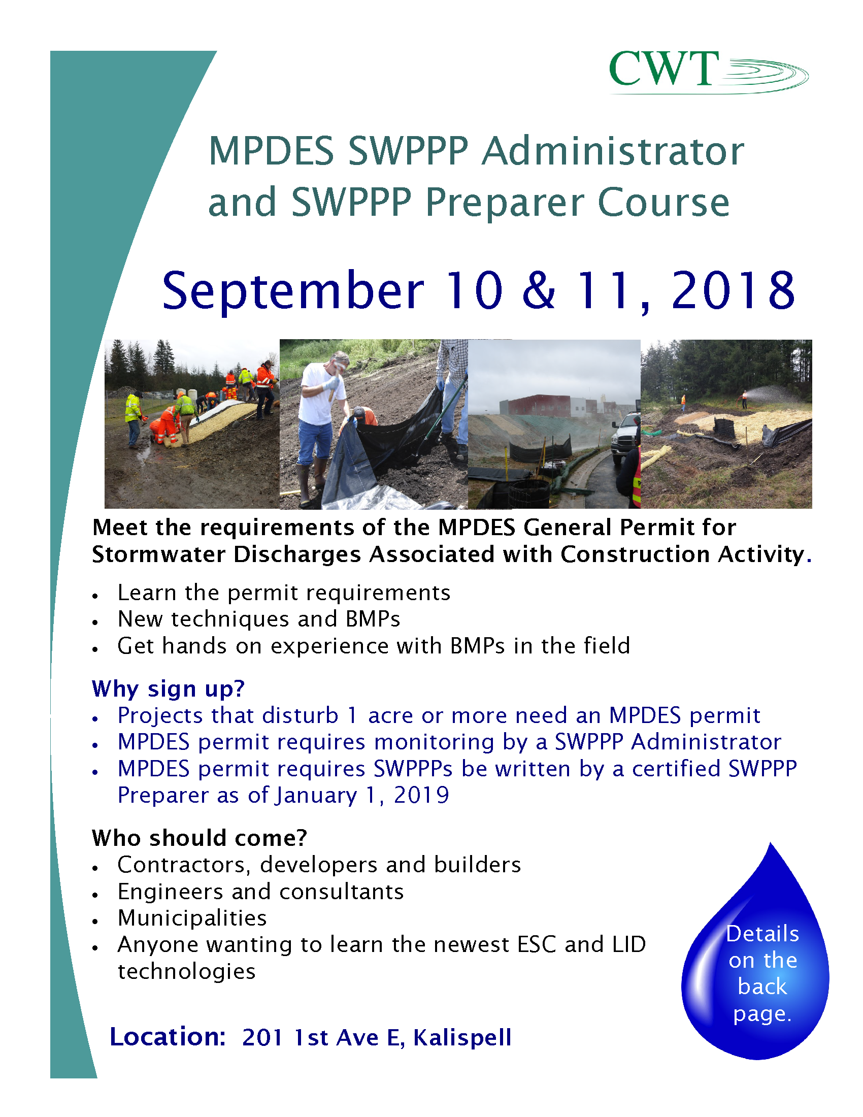 2018 SWPPP Administrator and Preparer Certification Class