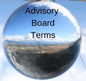 Photo of Kalispell with the words, Advisory Board Terms