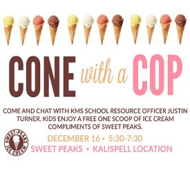 Cone with a Cop flyer