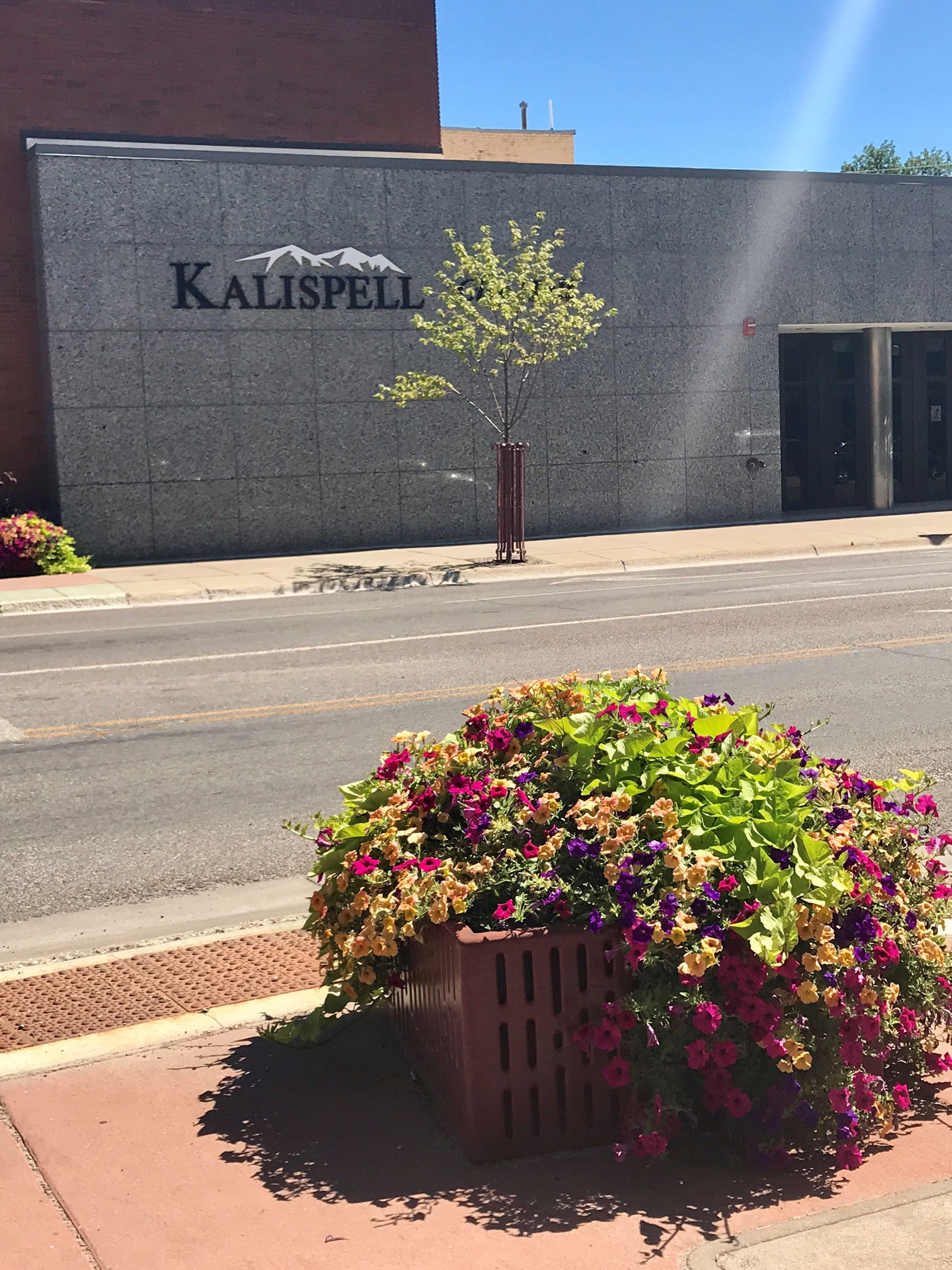 Kalispell City Hall from across street
